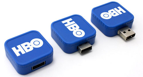 HBO Square Twist Logo USB